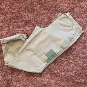 LOFT olive green chino pants